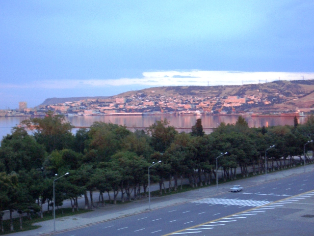 Baku at Dawn--taken from my hotel room the first morning I was there.