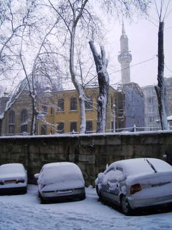 Snowy mosque
