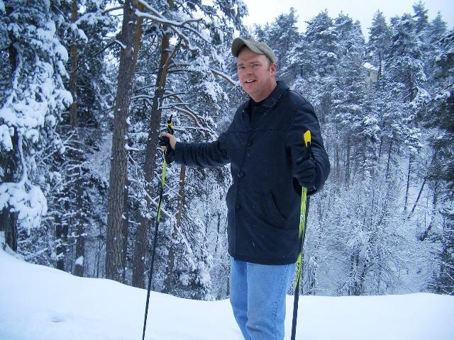 Me cross-country skiing in Abant